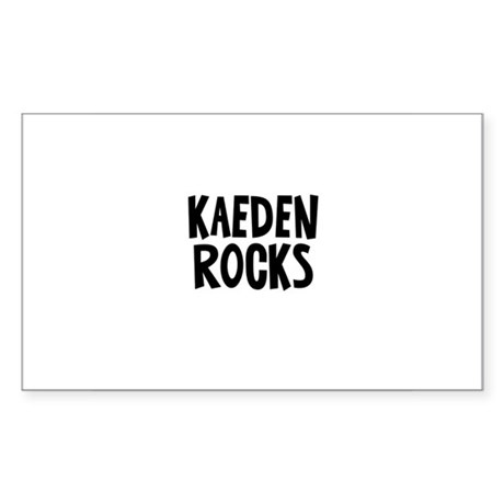 Kaeden Rocks Rectangle Sticker