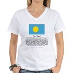 Palau Women's V-Neck T-Shirt