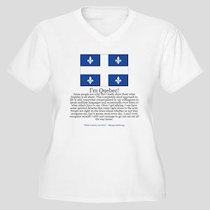 Quebec Women's Plus Size V-Neck T-Shirt