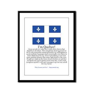 Quebec Framed Panel Print