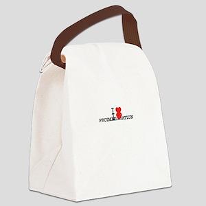 I Love PROIMMIGRATION Canvas Lunch Bag