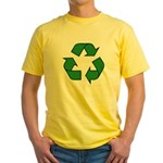 Recycle Symbol Yellow T-Shirt