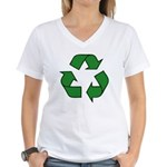 Recycle Symbol Women's V-Neck T-Shirt