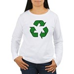Recycle Symbol Women's Long Sleeve T-Shirt