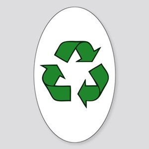 Recycle Symbol Oval Sticker