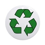 Recycle Symbol Ornament (Round)