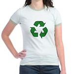 Recycle Symbol Jr. Ringer T-Shirt