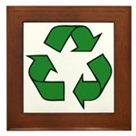 Recycle Symbol Framed Tile