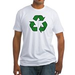 Recycle Symbol Fitted T-Shirt