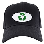 Recycle Symbol Black Cap