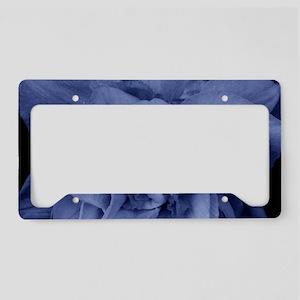 Dramatic Blue Daffodil Art License Plate Holder