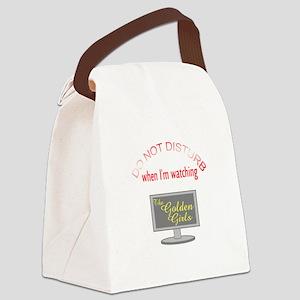 Do Not Disturb Watching Golden Gi Canvas Lunch Bag