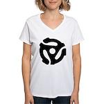 45 RPM Adapter Women's V-Neck T-Shirt