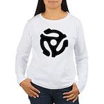 45 RPM Adapter Women's Long Sleeve T-Shirt