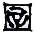 45 RPM Adapter Throw Pillow