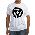 45 RPM Adapter Fitted T-Shirt