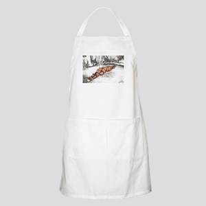 Strapped In Snow BBQ Apron