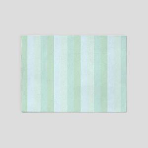 Calm Blue Green Stripe 5'x7'Area Rug