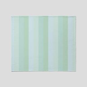 Calm Blue Green Stripe Throw Blanket