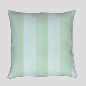 Calm Blue Green Stripe Everyday Pillow