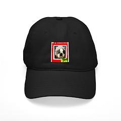 MERRY CHRISTMAS BOSTON TERRIER LOOK Baseball Hat