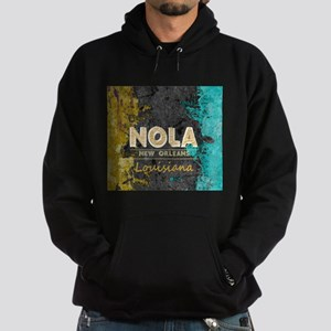 NOLA New Orleans Black Gold Turquoise G Sweatshirt