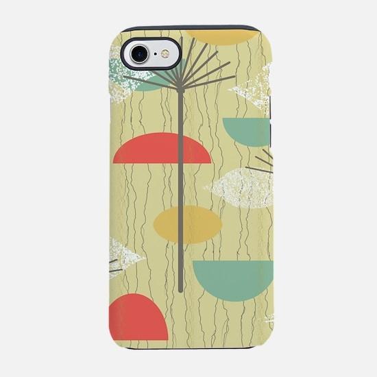 Mid Century Modern Barkcloth iPhone 8/7 Tough Case