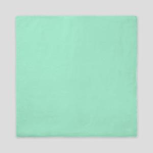 Mint Green Solid Color Queen Duvet