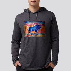 Buffalo, colorful, art! Long Sleeve T-Shirt