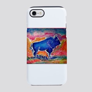 Buffalo, colorful, art! iPhone 8/7 Tough Case