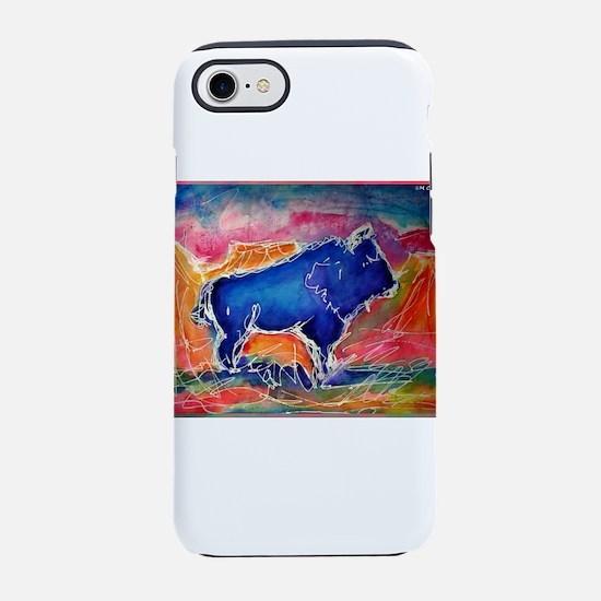 Buffalo, colorful, art! iPhone 8/7 Tough Case
