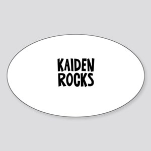 Kaiden Rocks Oval Sticker