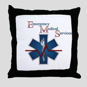 EMS Life Line Throw Pillow