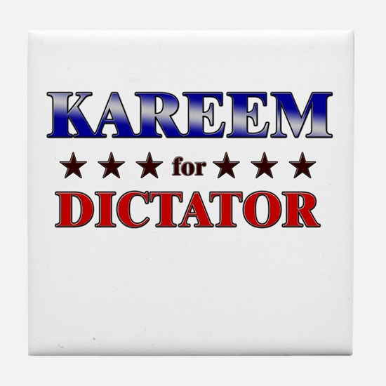 KAREEM for dictator Tile Coaster