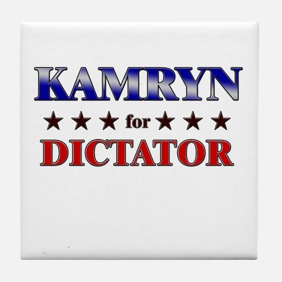 KAMRYN for dictator Tile Coaster