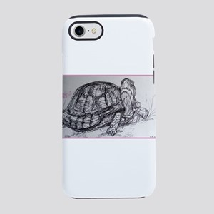 Turtle, tortoise, nature art iPhone 8/7 Tough Case