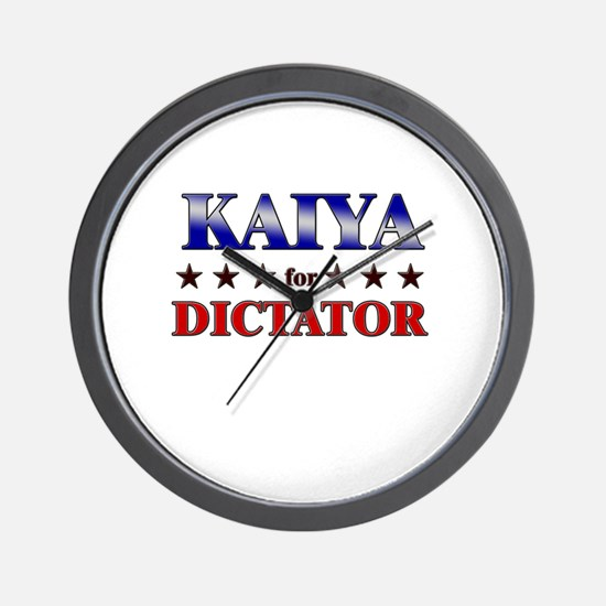 KAIYA for dictator Wall Clock