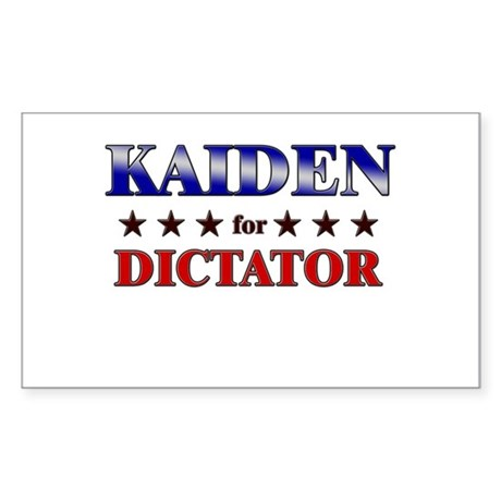 KAIDEN for dictator Rectangle Sticker