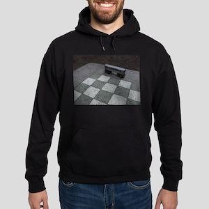 Chessboard Subway Car Hoodie (dark)