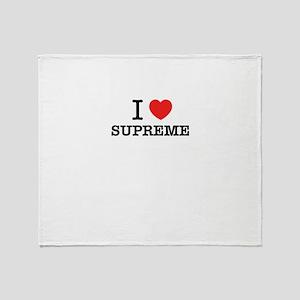 I Love SUPREME Throw Blanket