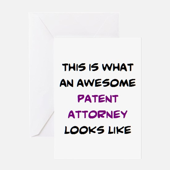 awesome patent attorney Greeting Card