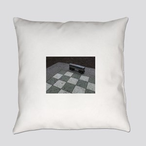 Chessboard Subway Car Everyday Pillow