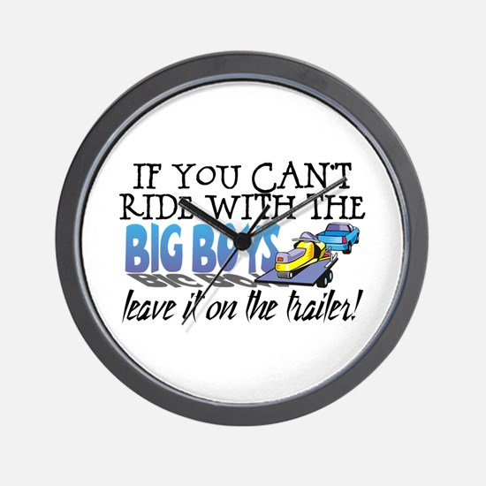 Leave It On The Trailer! Wall Clock