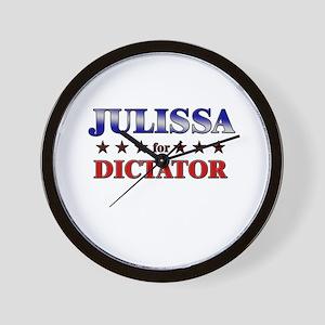 JULISSA for dictator Wall Clock