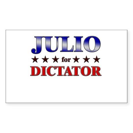 JULIO for dictator Rectangle Sticker