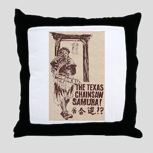 The Texas Chainsaw Samurai Throw Pillow