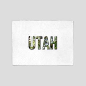 UtahLettersPineNeedles 5'x7'Area Rug