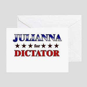 JULIANNA for dictator Greeting Card