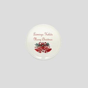 Lithuanian Christmas Mini Button