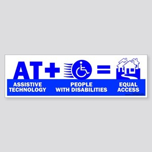 AT = Access! Bumper Sticker